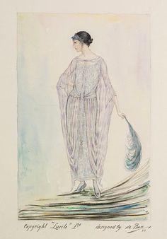 Evening dress design, Jules de Ban (for Lucile), 1923; VAM E.2936-1962
