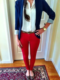 Red + White + Blue + Animal Print