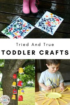 Art and crafting at the preschool age is all about the experience. These tried and true toddler crafts are great to let your child explore markers, glue, scissors, colored pencils, and crayons. Have fun exploring different colours and different textures with these easy, super cute crafts! Crafts For 2 Year Olds, Crafts For Kids To Make, Easy Arts And Crafts, Arts And Crafts Projects, Preschool Age, Kids Learning Activities, Different Textures, Cute Crafts, Toddler Crafts
