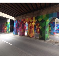 "Discovered by Lisa Osburn, ""This is the underpass by the art park. Live the colors!!"" at Lincoln Street Art Park, Detroit, Michigan"