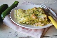 Lasagne con zucchine e salmone,lasagne di pesce facile,veloce e saporita.Ottima per il cenone delle feste