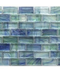 mirabelle glass tile aqua blue brick pattern guest bedroom beach look