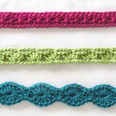 crochet accent belts Tutorial ♡ Teresa Restegui http://www.pinterest.com/teretegui/ ♡