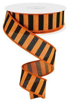 """5 Yards Halloween Fuzzy Spiders Spooky Orange Wired Ribbon 2 1//2/""""W"""