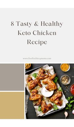 8 Tasty & Healthy Keto Chicken Recipe Chicken is a staple food for any diet where you are looking to cut fat. And these keto chicken recipes are some of the best recipes that you will find if you are just starting out with the keto diet plan. #keto #ketochicken #ketochickenrcipe