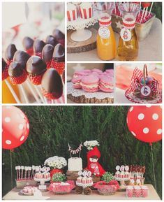 Little Red Riding Hood themed birthday party with Lots of Really Cute Ideas via kara's party ideas! full of decorating ideas, dessert, cake,...
