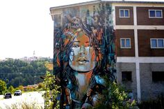 Street Art by Alice in Campobasso, Italy