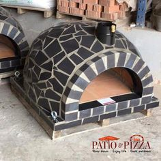 These gorgeous Mosaic Tile Outdoor Brick Ovens are handmade in Portugal. The patented dome shape of the pizza oven creates intense heat which is perfect for pizzas, bread loaves, steaks, desserts & more! Can be used outdoors and indoors. Buy today for free shipping on these beautiful wood-burning pizza ovens.