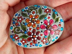Gentle Wildflowers / Painted Rock / Sandi Pike Foundas / Sea Stone Cape Cod