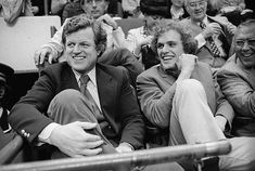 Joseph Kennedy Jr with his Uncle Ted Kennedy at the Boston Garden Stadium. Joseph Kennedy Jr, Ted Kennedy, Boston Garden, Boston Celtics, Basketball Games, Basketball Plays