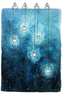 """Хотел бы я знать, зачем звезды светятся. Наверно, затем, чтобы рано или поздно каждый мог вновь отыскать свою. Антуан де Сент-Экзюпери """"Маленький принц"""""""