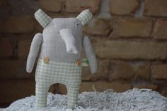 Ready to ship Linen elephant by adatine on Etsy, $31.00