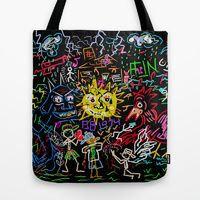 Tote Bag featuring Summer Vacation In Detroit  by Bwilly Bwightt