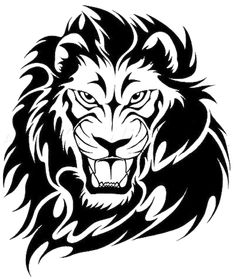 Tribal Lion Tattoos- High Quality Photos and Flash Designs of ...