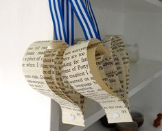 Upcycled wedding decoration x 10 recycled books pew by bookity, $28.00