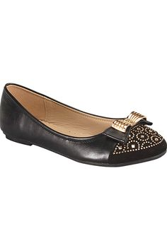 Forever Link FAUX LEATHER RIBBON ACCENT DESIGN RHINESTONES CASUAL FLATS *** Want additional info? Click on the image.