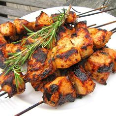"Rosemary Ranch Chicken Kabobs | ""These were HEAVENLY! My husband and I would give them 10 stars if we could."""
