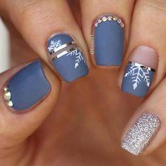 52 winter nail colors and designs, mismatched nail colors, mismatched nail designs, winter nail - Nails Winter Nail Art, Winter Nail Designs, Colorful Nail Designs, Winter Nails, Nail Art Designs, Nails Design, Nail Colors For Winter, Nail Ideas For Winter, Xmas Nail Designs