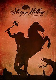 Sleepy Hollow Tim Burton Movie Poster Vintage Poster by TopPoster