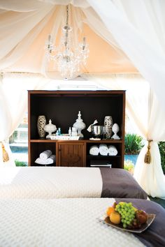 Experience the extraordinary in Baltimore: Indulge together during a moonlit spa treatment and dinner for two.