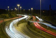 Rivers of Light (Steve Gait) Tags: light motorway