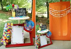 Possible mini photo booth to make sure to remember each guest... Maybe fun props too?! Monster faces/masks/hats, happy 1st birthday sign, etc.