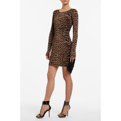 BCBGMAXAZRIA - SHOP BY CATEGORY: DRESSES: VIEW ALL: SHEENA LONG-SLEEVE LEOPARD-PRINT DRESS