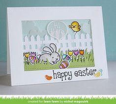 Lawn Fawn Happy Easter Card by Nichol Magouirk.