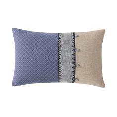"Charisma Villa 14"" x 22"" Decorative Throw Pillow (14x22), Blue, Size Specialty"