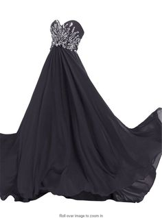 Queenworld Long Prom Dresses Strapless Beaded Chiffon for Evening and Prom US-2 Black. Have applied for trademark protection.We have our own label and package. The fabric is chiffon with Light,soft, smooth and straight features. Hand wash or Dry clean. Estimated Delivery is set automatically. You will receive it within 20 days totally.If you need a rush order, please contact with me freely. Can be used as Bridesmaid Dress,Evening Dress,Prom Dress,Party Dress and other various…