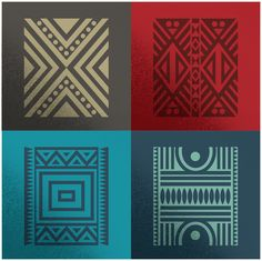 Haus Ethnik Dingbats, my first type design project, is a collection of motifs inspired from modifications on ethnic patterns derived from Zimbabwean material culture. African Logo, African Theme, African Art, Ethnic Patterns, Textures Patterns, Print Patterns, African Patterns, Arte Tribal, Tribal Art
