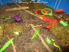Digding for bugs- sensory play station