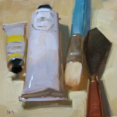 """Carol Marine's Painting a Day - """"Tools of the Trade"""""""