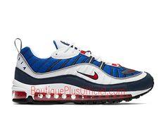 premium selection 946b2 d951f Nike Air Max 98 Chaussures Officiel 2019 Prix Pas Cher Pour Homme Bleu  Blanc 640744-