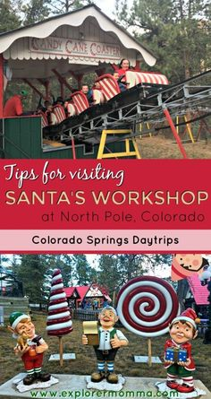 Making a trip to Colorado Springs? Check out this delightful Santa's Workshop theme park set in the mountains. #santasworkshop #coloradosprings