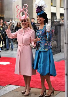 Celebrity Halloween Costumes 2011: Katie Lee Gifford and Hoda Kotb portraying Princesses Beatrice & Eugenie