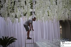 "have to know what these flowers are. perfect for the all white and crystals theme we are planning on having. although the crystals might make it unbelievably expensive. the flowers alone are perfect! -Anj Preparing for a contemporary white wedding in Italy inspired by floral from ""Twilight wedding scene"" - designed by Sugokuii Events www.sugokuii-events.com #capri #sugokuiievents #capriweddings"