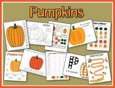 FREE Pumpkin Printables for preschoolers and tots.