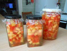 Görögdinnyehéj befőtt Peach, Stuffed Peppers, Candy, Vegetables, Food, Sweet, Peaches, Stuffed Pepper, Sweets