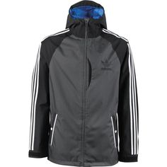 Adidas Snowboarding 2015 3-Stripe Jacket (Black / Dark Grey) Mens Jackets at Martini Skate and Snow