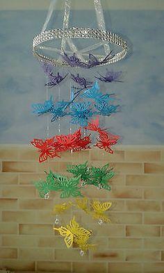 Personalised Butterfly Chandelier Mobile-nursery/bedroom/baby shower/christening