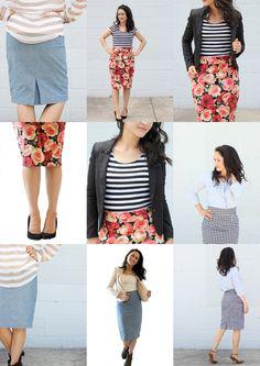 Pleated Pencil Skirt Pattern // Delia Creates