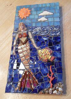 Mosaic Mermaid Plaque, Pique Assiette | Flickr - Photo Sharing!