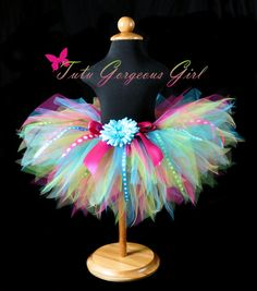 Girls First Birthday Ribbon Tutu...Turquoise, Hot Pink, Yellow, Lime...Sizes Newborn to 4T . . . BIRTHDAY SURPRISE TUTU on Etsy, $36.00