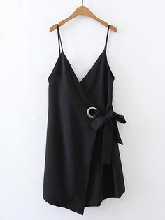 Shop Double V Neck Ring Detail Cami Dress online. SheIn offers Double V Neck Ring Detail Cami Dress & more to fit your fashionable needs.