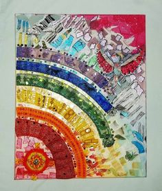 ooak BEADWORK RAINBOW COLLAGE, Team Project 100% to St Jude Childrens Hospital