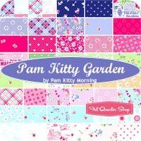Pam Kitty Garden Yardage<BR>Pam Kitty Morning for Lakehouse Dry Goods