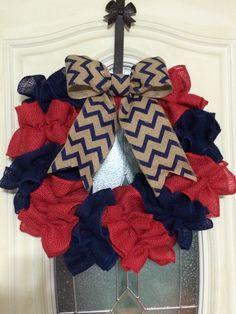 Burlap 4th of July wreath!