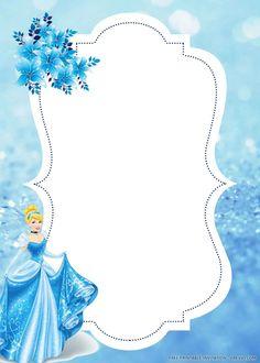Cinderella Invitations, Cinderella Theme, Cinderella Birthday, Birthday Dates, It's Your Birthday, Templates Printable Free, Free Printables, Rustic Birthday, Baby Icon