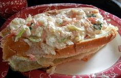 Lobster Roll with real chunks of lobster - New Columbia Harbour House Menu in Magic Kingdom